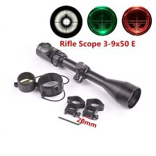 Hunting Scope 3-9X50E Red Green Illuminated Shotgun Airsoft Rifle Scopes Sight