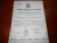 1846 REGNO DELLE DUE SICILIE CHIARAMONTE GULFI NOTO SICILIA LICENZA DI CACCIA