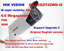 Hikvision Original DS-2CD2T42WD-I5 4MP EXIR 50m IR IP POE Network Bullet Camera