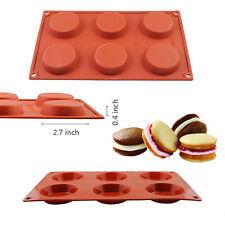 6 Cavity Mini Pie Custard Cake Baking Mold Silicone Pan Chocolate Cookie Muffin