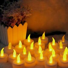 24x LED Tea Lights Flameless Flickering Candles Battery Operated Wedding Xmas UK