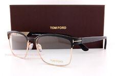 Brand New Tom Ford Eyeglass Frames 5323 002 BLACK/GOLD  Size 54mm Men Women