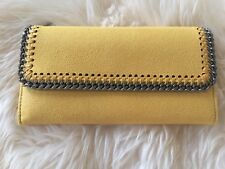 NWT Stella Mccartney Falabella Flap-top Wallet Yellow Dust Bag