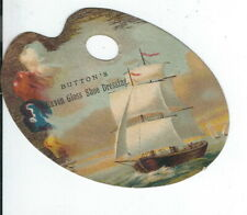 AK-121 NY, Cortland Buttons Raven Gloss Shoe Polish, Victorian Trade Card Pallet