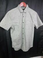 Hollister Men's Button Down Epic Flex Slim Fit Shirt Sz XS Dark Green Stretch