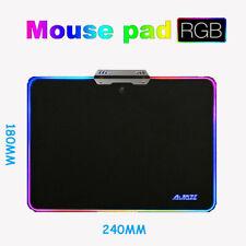 UK Aluminum Alloy Pad Backlit Mouse Pad Game ESports PC LAPTOP MACBOOK ANTI-SLIP