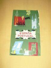 Carte routière Shell touring Espana Potugal 1960