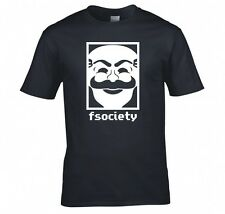 "MR. ROBOT ""F SOCIETY MASK"" T SHIRT NEW"