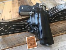 Catch A Thief Red Nichols Black Horsehide Leather Holster For Beretta 92F