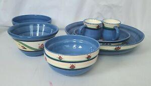 Vintage Gail Pittman Hand Painted Dinnerware Set Of 8