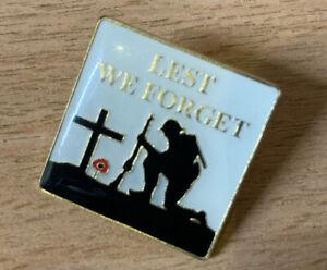 British Soldier   Lest We Forget Lapel Enamel Pin Badge   10% British Legion