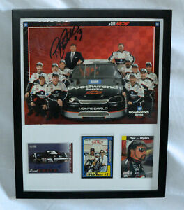 DALE EARNHARDT RICHARD CHILDRESS DAVID R SMITH DANNY MYERS AUTOGRAPHED COLLAGE