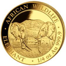 Somalia 200 SH. 2020 - Elefant - African Wildlife - Anlagemünze - 1/4 Oz Gold ST