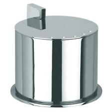Pomd'or Bathroom Vanity Jar #1 Cotton Ball Swab Holder Cannister Polished Chrome