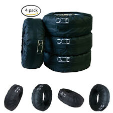 Newest Set Of 4 Pcs Wheel Tire Covers Storage Courier Bags For Universal Vehicle