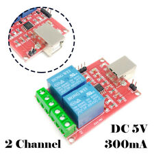 DC 5V USB Relay 2 Channel Programmable Computer Control Relay for Smart Home