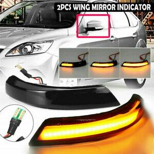 2X Dynamische LED Seitenblinker Blinker Schwarz für  Ford Focus Mk2 Mk3 Mondeo