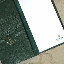Vintage Rolex watch pebbled leather rare long wallet checkbook passport holder