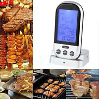 Digital LCD Wireless Remote Kitchen Oven Food Cook Meat BBQ Grill Thermometer S