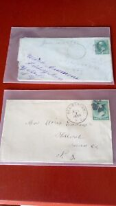US 1870s-80s Washington stamps on covers(2)
