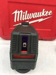 Milwaukee 3521-20 100 ft. REDLITHIUM USB Green Cross Line Laser Level LN [m]