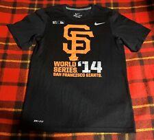 Mens San Francisco Giants Nike Dri-Fit 2014 World Series Champions Shirt Sz S