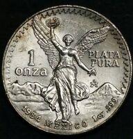 1984 Mexico 1 Oz Silver Libertad Plata Pura .999 Fine Winged Liberty Eagle Coin