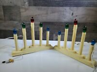 2 Vintage Noma 6 Christmas Lights Electric Candles Candolier/used