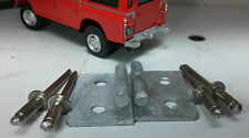 LAND Rover Serie 2 2A 3 TELA CORDA GANCIO ZINCATO x2 330578 RIVETTI INOX
