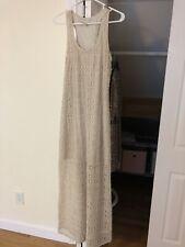 Lc lauren conrad beige crochet lining sleeveless women's maxi dress Size L