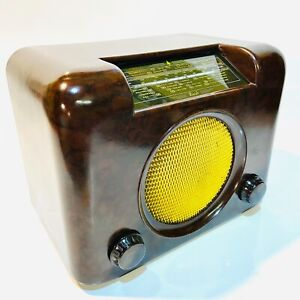 Bush DAC 90A Bakelite Valve Radio, 1950s Vintage, Lovely, Clean & Working + Lead