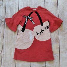 Sonia Rykiel pink knit dress cherries sz 8