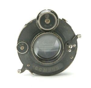 Antiques Zeiss Jena Tessar 4,5/12cm Lens In Compur Shutter #0 32,5mm Diameter.