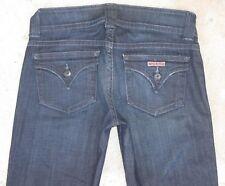 Hudson Signature Bootcut Jeans w Flap Pockets Dark Distressed Sz 28