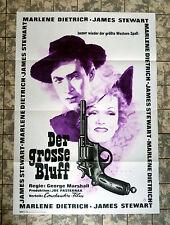 MARLENE DIETRICH * GROSSE BLUFF- A1-FILMPOSTER WA -German 1-Sheet RR1964 DESTRY