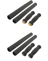 4-Piece Black Bicycle Handlebar Foam Grip Set Beach Cruiser Bike Handle Bar Grip