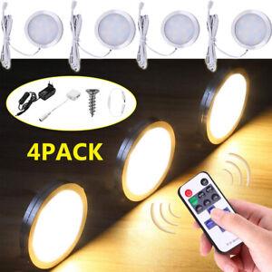 4er Set LED Unterbauleuchte Licht Schrankbeleuchtung Küchen Leuchte warmweiß DHL