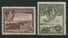 Antigua KGVI 1942-44 2/6d and 5/ mint o.g.