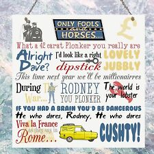 Only Fools and Horses TV Show Quotes Plaque Birthday Gift Plaque Sign Wall House