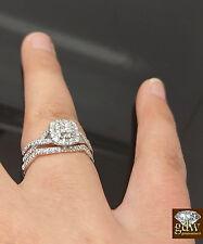 Real 14k White Gold & Real 1/2 CT ladies Ring & Band Set, Wedding, anniversary,N