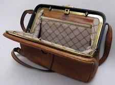 GOLDPFEIL Bügeltasche LUXUS Handtasche LEDER Abendtasche CARACCIOLA Rarität 1A #