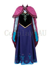 AU Stock~ High Quality Disney Frozen Snow Queen Anna Cosplay Costume Hand made