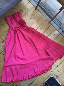 Vintage Pink Evening Gown Party Dress UK 10