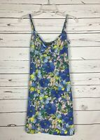 Topshop Women's 2 Blue Pink Floral Sleeveless Cute Spring Summer Tunic Top Tank