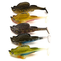Soft Bait Lead Jig Dark Sleeper Swimbaits Fishing Pike Lure Bass Shad  .