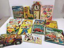 Lot of 14 Vintage Mid-Century Childrens Hardback Books 1950s 1960s Rand McNally