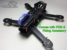 3K Carbon Fiber QAV250 Mini 250 FPV Quadcopter Frame Kit Set w/ fixing accessory