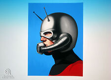 Ant-Man Mondo Mike Mitchell Portrait Print Marvel Comics Sold Out Rare Proof