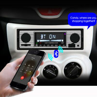 4channel 1 DIN Bluetooth Car Stereo FM Radio MP3 Audio Player Charger USB SD AUX
