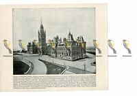Parliament, Ottawa, Canada, Book Illustration (Print), 1899